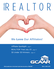 May/June cover of Capital Area REALTOR magazine