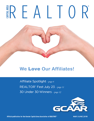Cover of the May/June issue of Capital Area Realtor magazine
