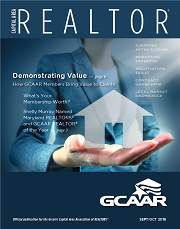 September/October cover of Capital Area REALTOR magazine