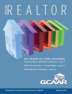 March/April cover of Capital Area REALTOR magazine