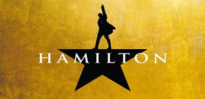 Logo for Hamilton, the musical